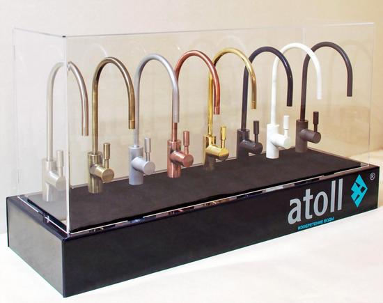 Кран чистой воды Атолл для фильтров осмоса Atoll