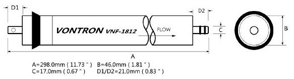 Мембрана нанофильтрации VNF2-1812 Нанотек