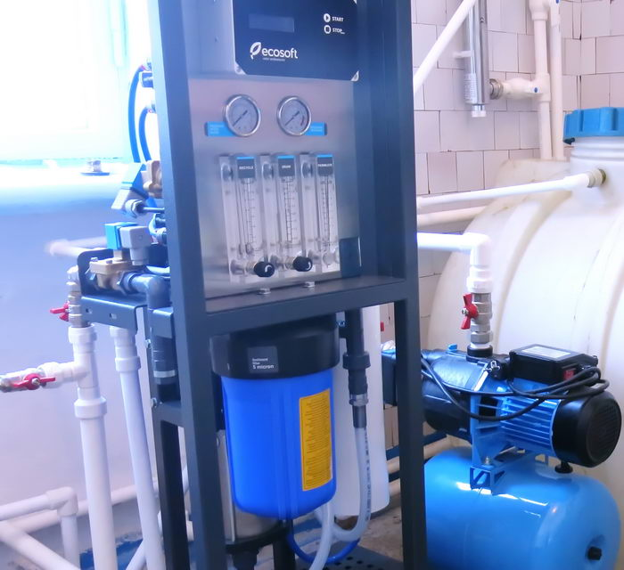 Установка очистки воды фильтр для школы